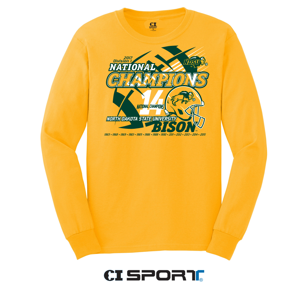 Long Sleeve T-Shirt - National Champions Gold by CI Sport