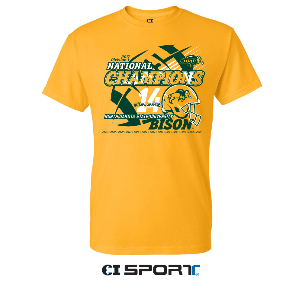 T-Shirt - National Champions Gold by CI Sport