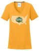 V-Neck T-Shirt - Ladies National Champions