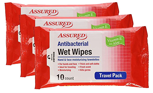 Antibacterial Travel Wipes - 3 packs