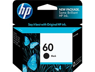 Cover Image For HP INK 60 BLACK CC640WN