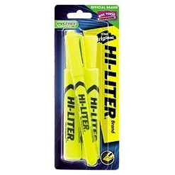 Image For HIGHLIGHTER YELLOW 3PK