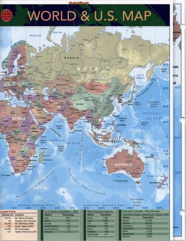 United States Map Study Guide.Us Map Study Guide