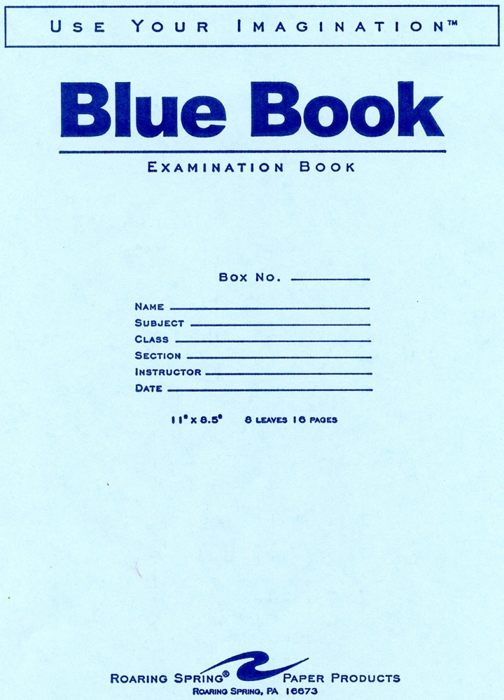 Image For BLUE BOOK 5PK