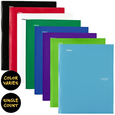 Image For 5 STAR ASSORTED STAY-PUT POCKET FOLDER WITH FASTENERS