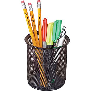Image For BLACK MESH PENCIL CUP SMALL