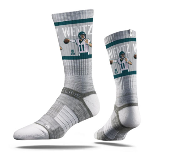 Image For Socks Carson Wentz - by Strideline