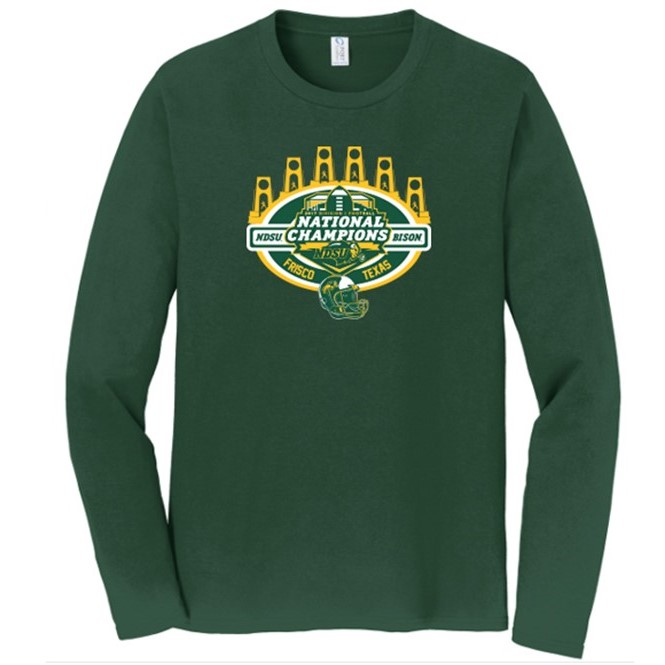 Cover Image For Long Sleeve T-Shirt - National Champions Green by Go Promo