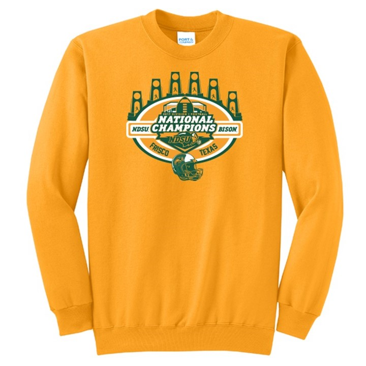Image For Crew Sweatshirt - National Champions Gold by Go Promo