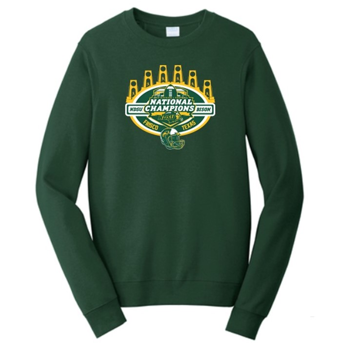 Image For Crew Sweatshirt - National Champions Green by Go Promo