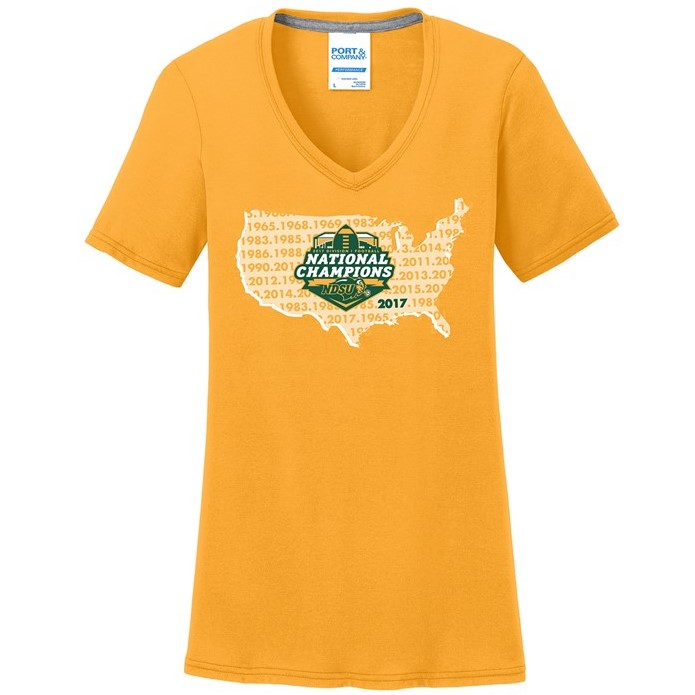 Cover Image For V-Neck T-Shirt - Ladies National Champions