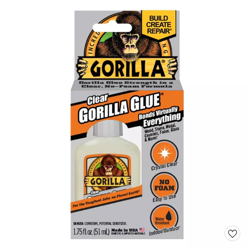 Image For GORILLA GLUE CLEAR GLUE