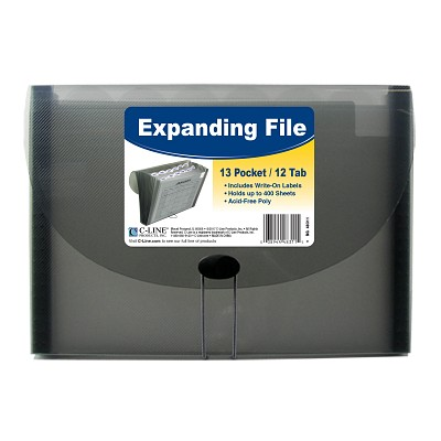 Image For C-LINE EXPANDING FILE 13 POCKET GRAY