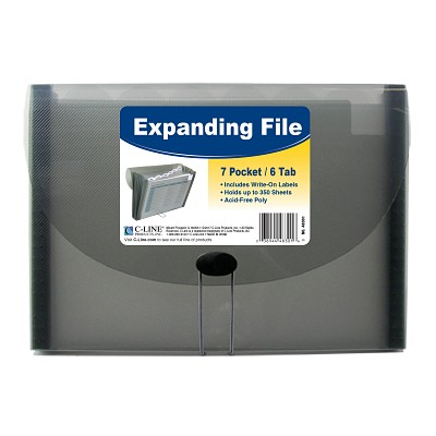 Image For C-LINE EXPANDING FILE 7 POCKET GRAY