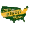 Image for Wood Sign - Bison Nation USA