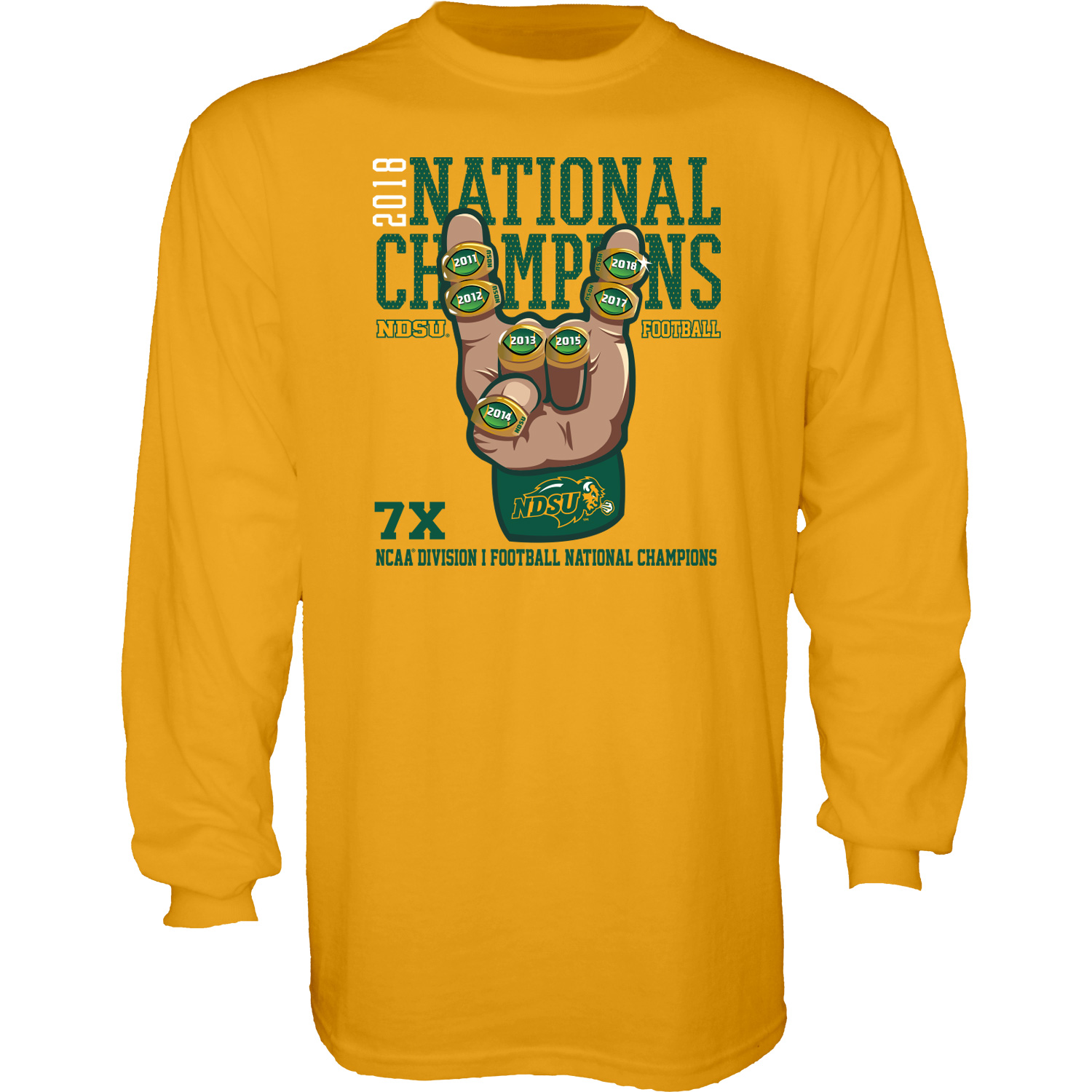 a12512cb Image For Long Sleeve T-Shirt - 2018 FCS National Champions