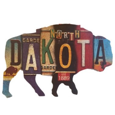 Cover Image For Decal - Bison License Plate