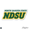 """Image for Decal - 3"""" NDSU Stacked Text"""