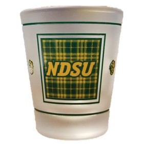 Image For Shot Glass - Official NDSU Tartan