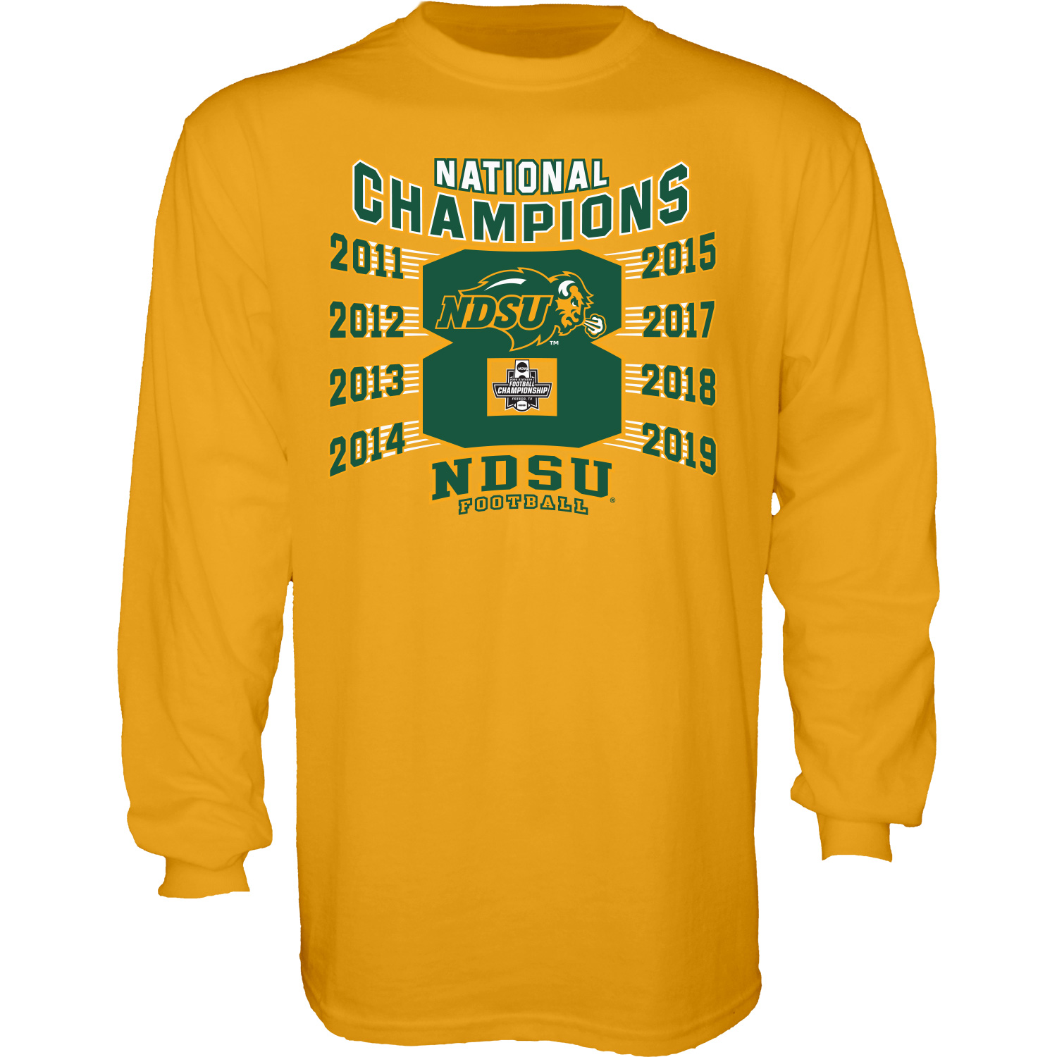 Image For Long Sleeve T-Shirt - 2019 FCS National Championship