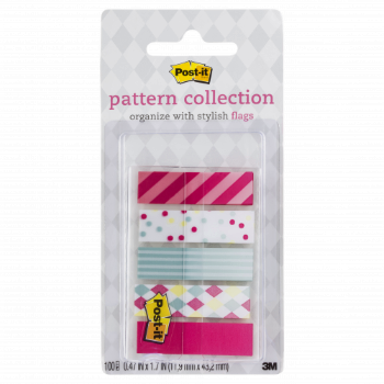 Image For POST-IT PATTERN COLLECTION CARNIVAL FLAGS W/ DISPENSER 5PK