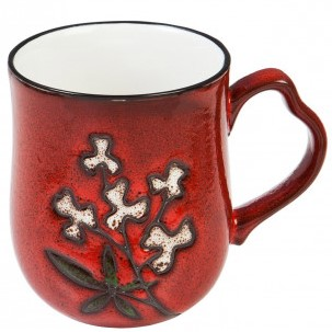 Cover Image For Mug - Red Wistful Floral Series