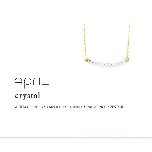 Image For Birthstone Necklace - April
