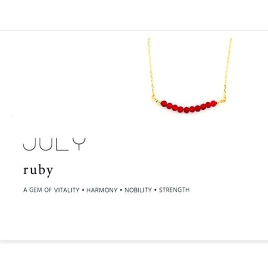 Image For Birthstone Necklace - July