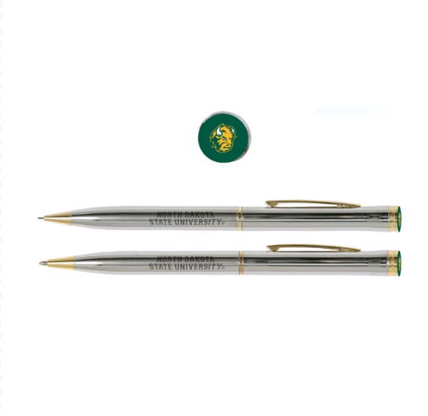Cover Image For NDSU PEN/PENCIL SET SLVR