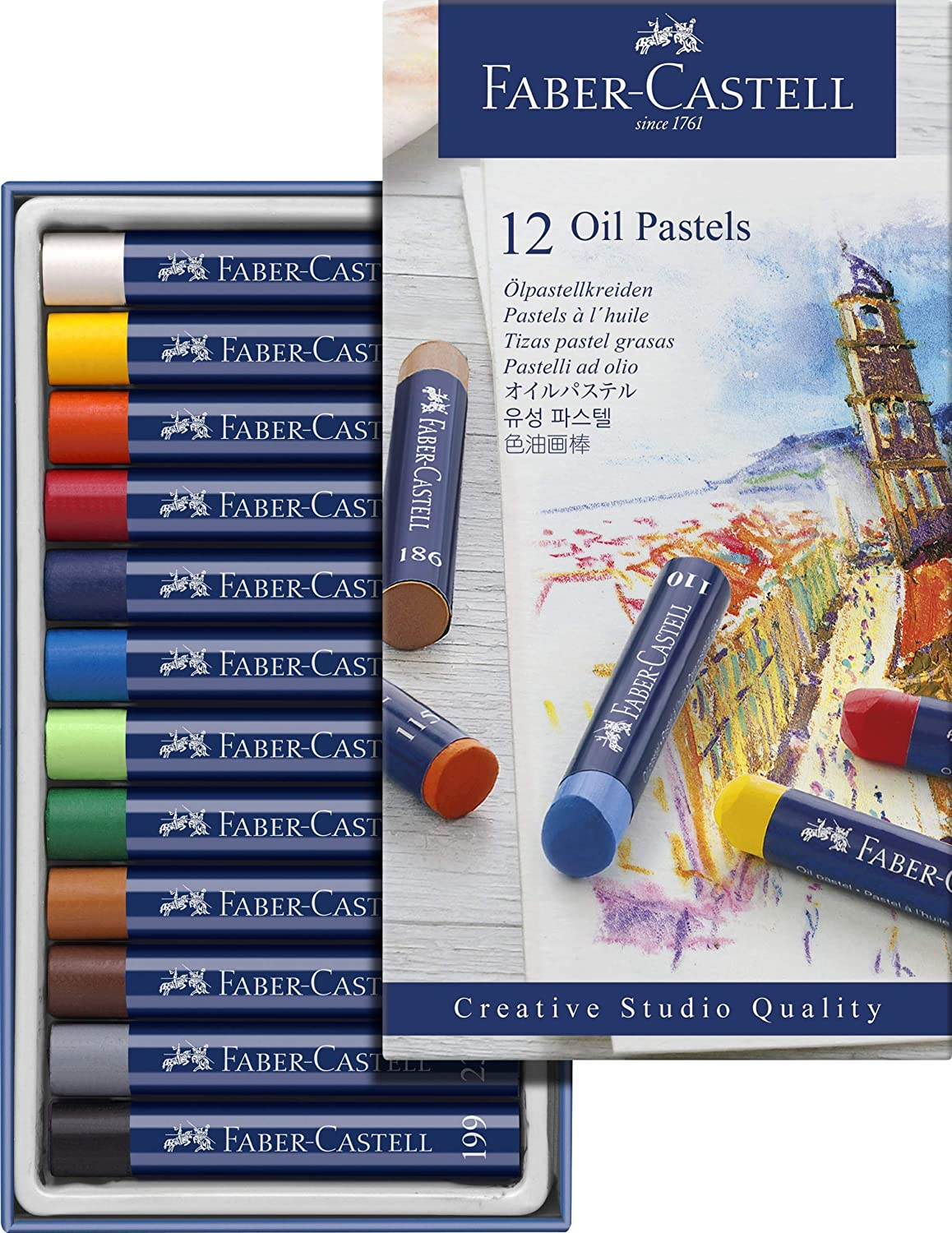 Image For FABER-CASTELL OIL PASTELS 12 PACK