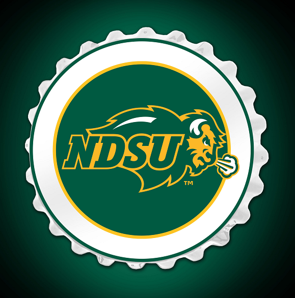 Cover Image For Bottle Cap Sign - NDSU Bison Logo (Online Exclusive)