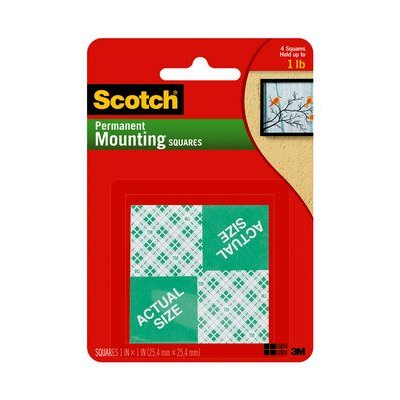 Image For SCOTCH PERNANET MOUNTING SQUARES