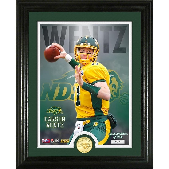 Image For Carson Wentz NDSU Bronze Coin Photo (Online Exclusive)