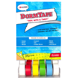Image For MAVALUS DORM TAPE ASSORTED COLORS