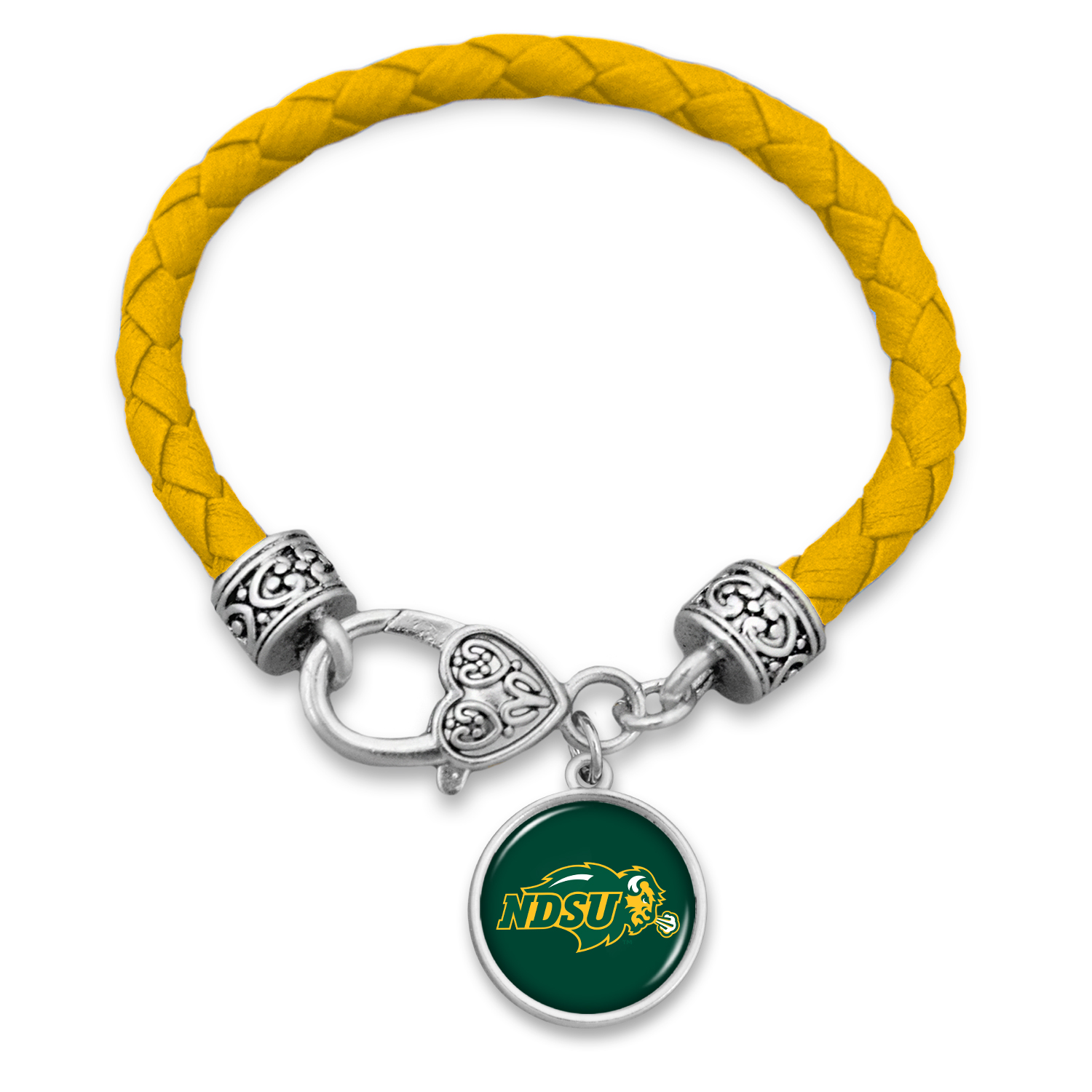 Cover Image For Bracelet - Braided Leather Gold