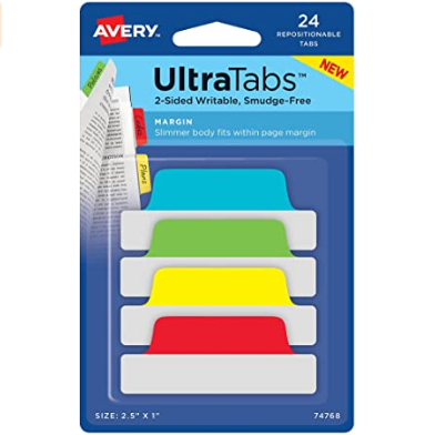 Image For AVERY MARGIN ULTRA TABS PRIMARY 4PK