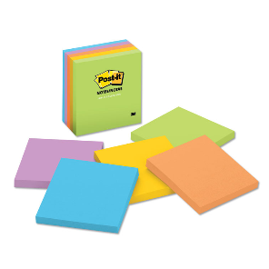 Cover Image For POST-IT 3X3 JAIPUR UNRULED ASSORTED NOTES 5PK