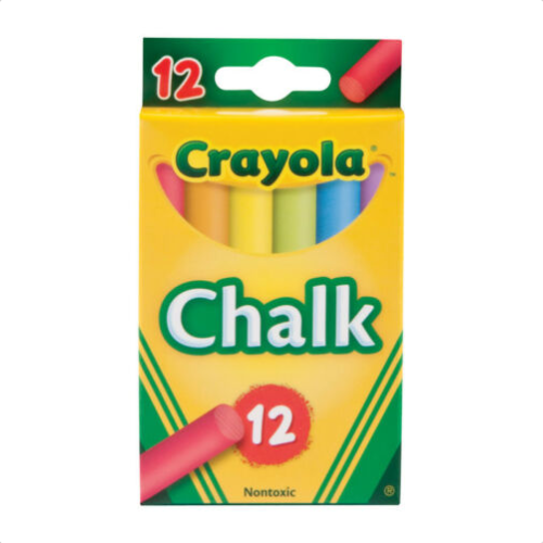 Image For CRAYOLA CHALK COLORED 12PK