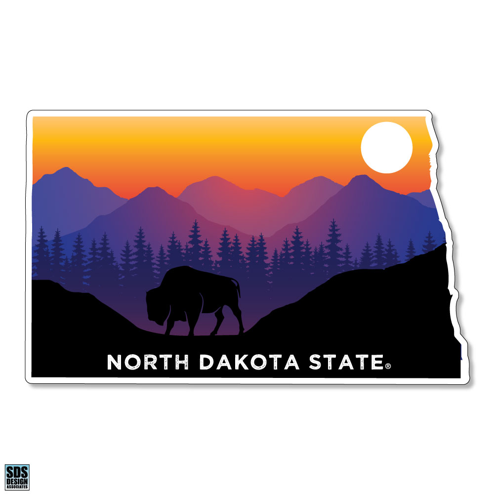 Image For Decal - State Outline with Sunset