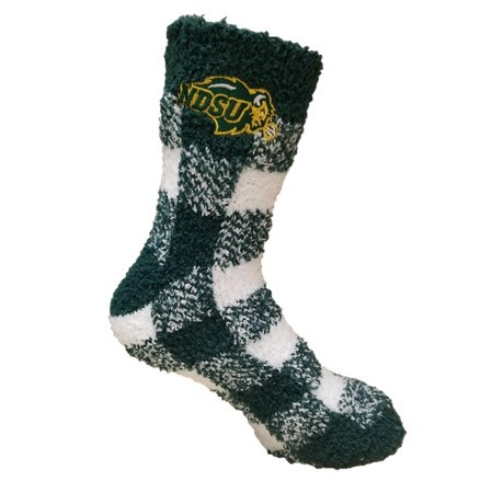 Image For Fuzzy Socks - Ladies Plaid