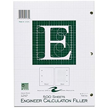 Image For ENGINEER PAD 500 SHEET